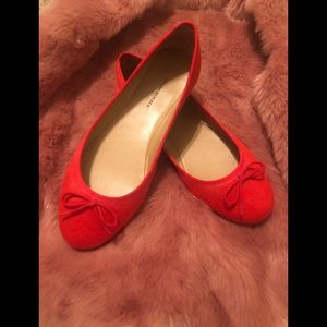Size 9 Banana Republic Red Orange Flats